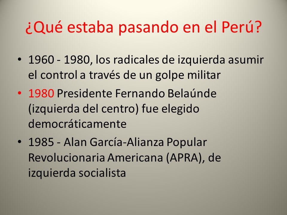 ¿Qué estaba pasando en el Perú