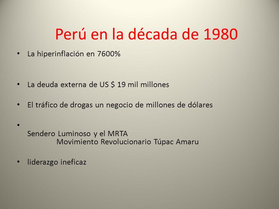 Perú en la década de 1980 La hiperinflación en 7600%