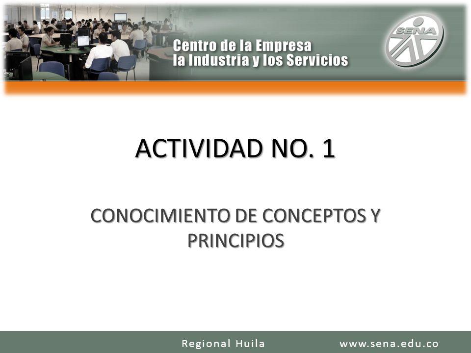 CONOCIMIENTO DE CONCEPTOS Y PRINCIPIOS