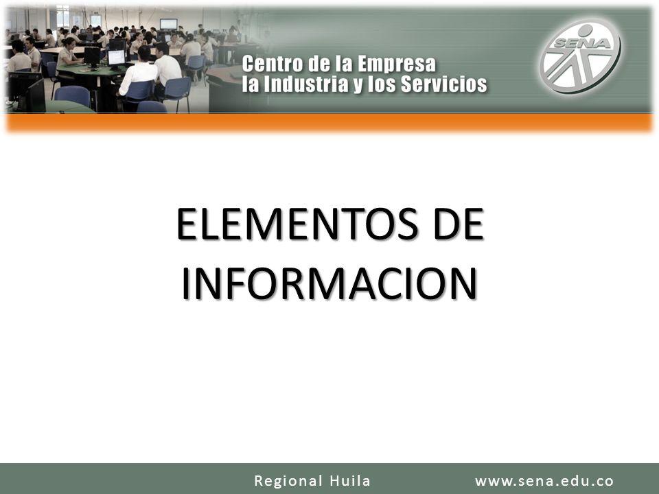 ELEMENTOS DE INFORMACION