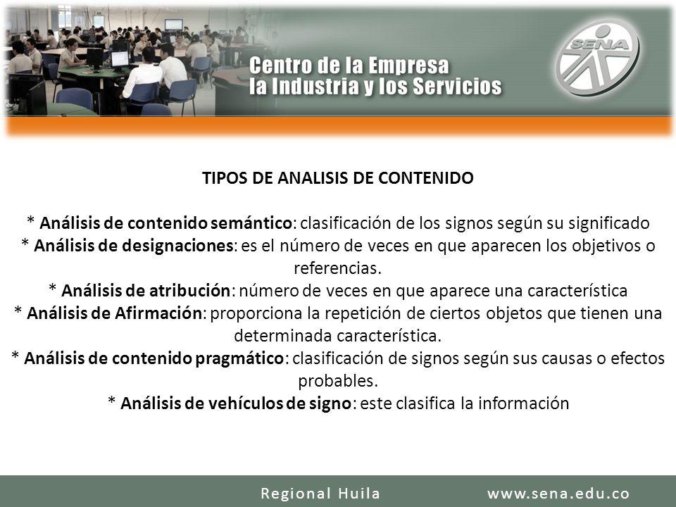 TIPOS DE ANALISIS DE CONTENIDO