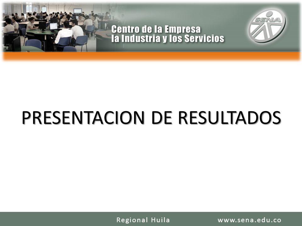 PRESENTACION DE RESULTADOS