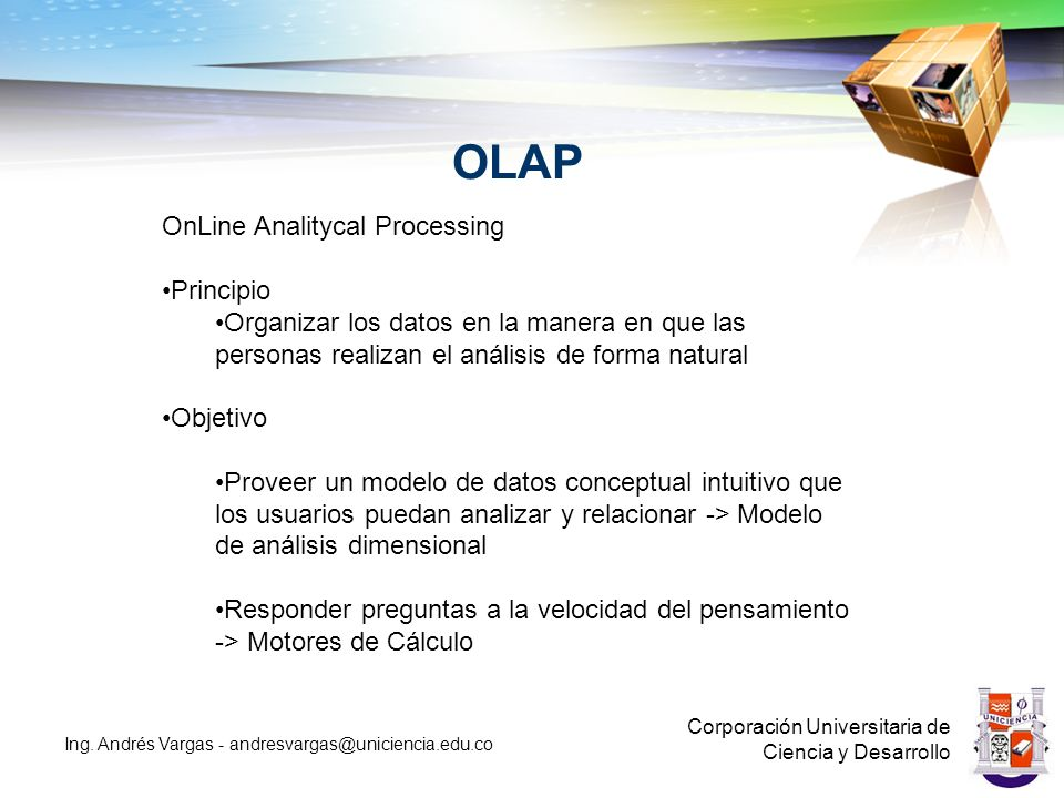 OLAP OnLine Analitycal Processing Principio