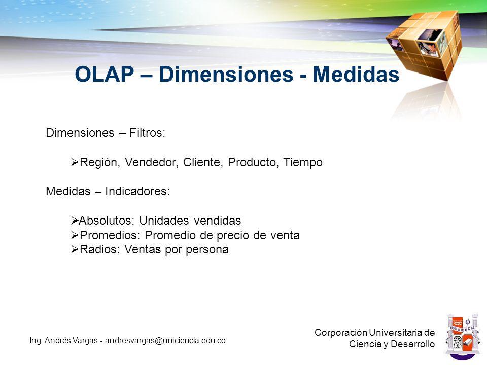 OLAP – Dimensiones - Medidas