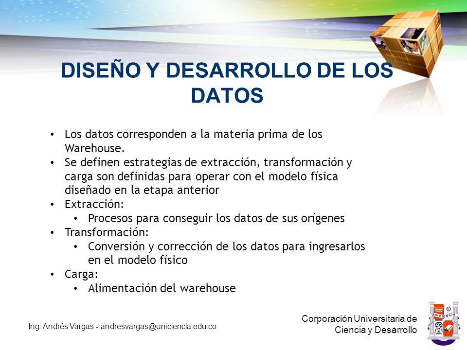 DISEÑO Y DESARROLLO DE LOS DATOS