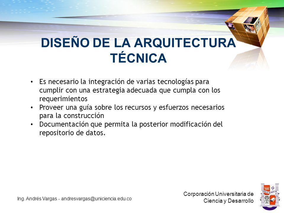DISEÑO DE LA ARQUITECTURA TÉCNICA