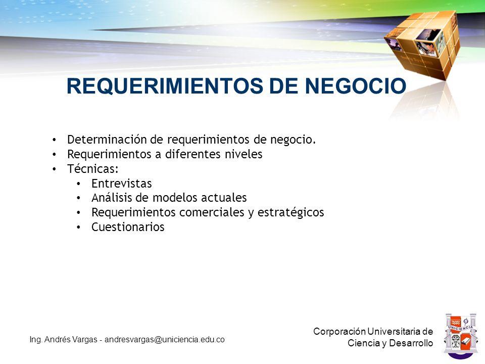 REQUERIMIENTOS DE NEGOCIO