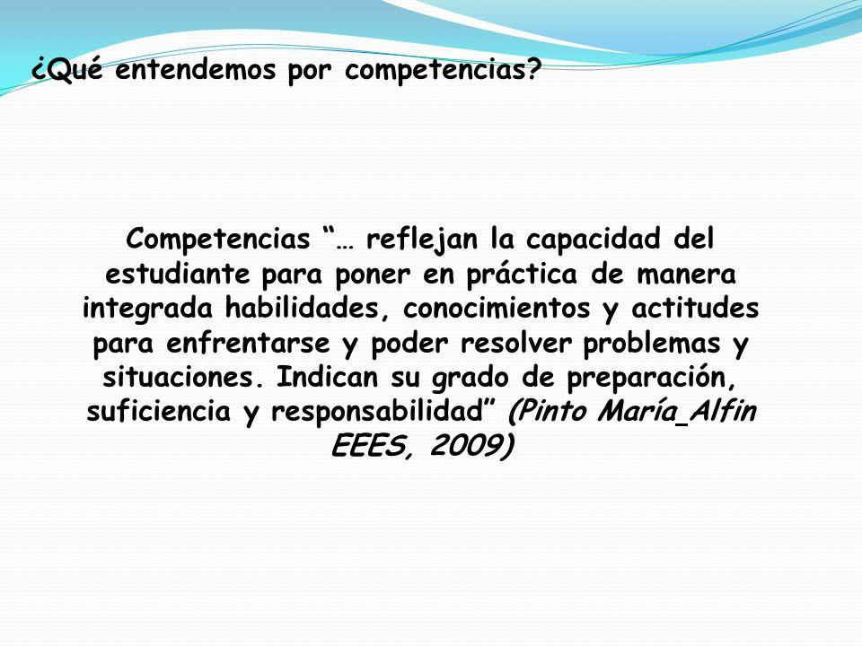 ¿Qué entendemos por competencias