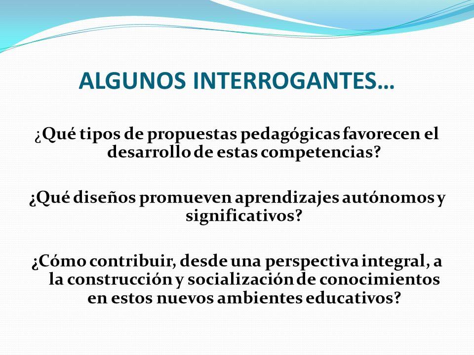 ALGUNOS INTERROGANTES…