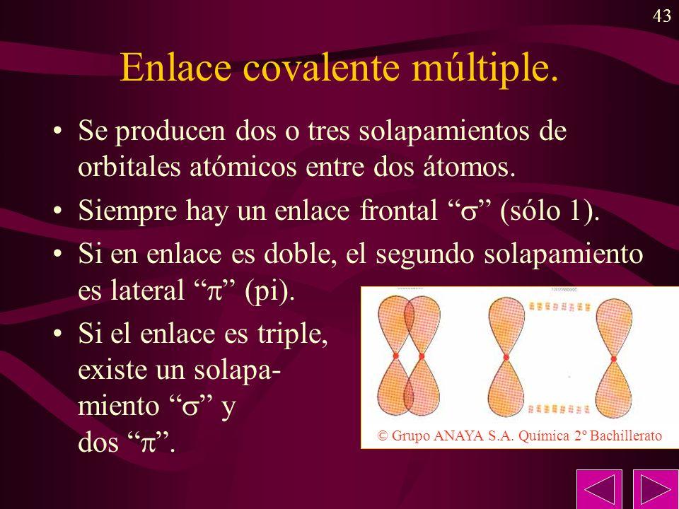 Enlace covalente múltiple.
