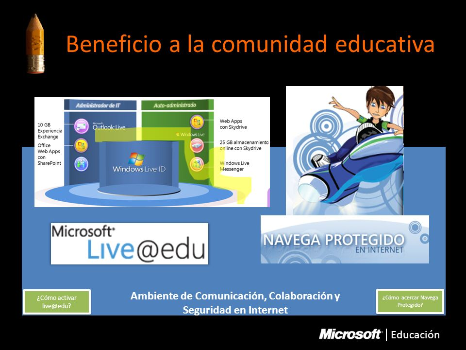 Beneficio a la comunidad educativa