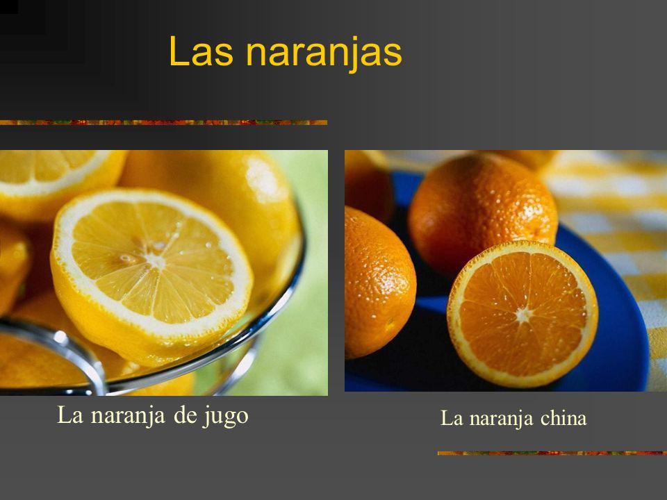 Las naranjas La naranja de jugo La naranja china