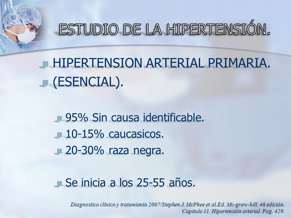ESTUDIO DE LA HIPERTENSIÓN.