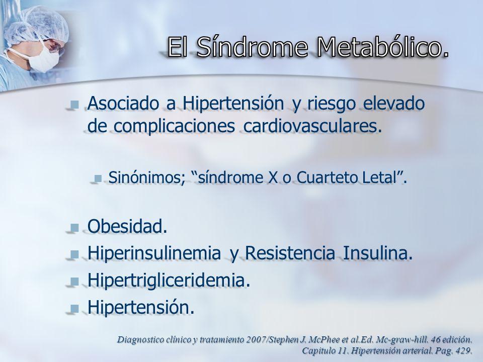 El Síndrome Metabólico.