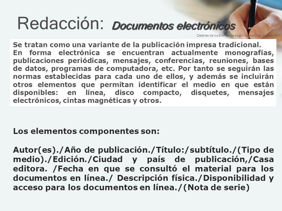 Redacción: Documentos electrónicos