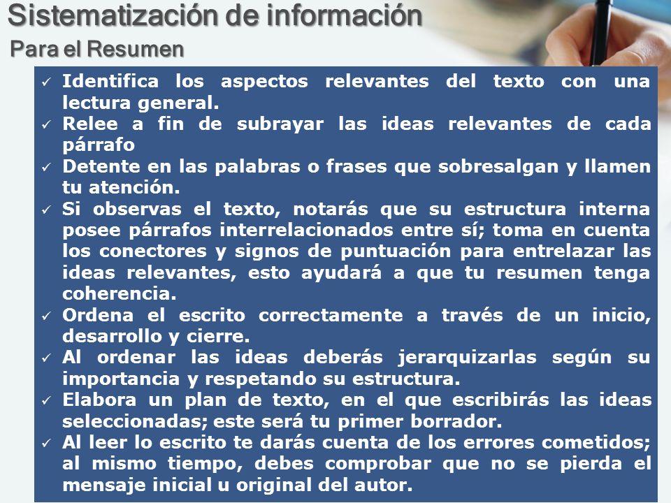 Sistematización de información