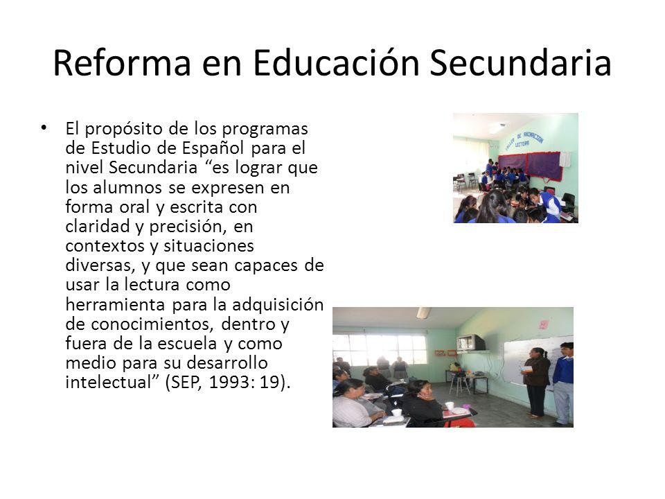 Reforma en Educación Secundaria