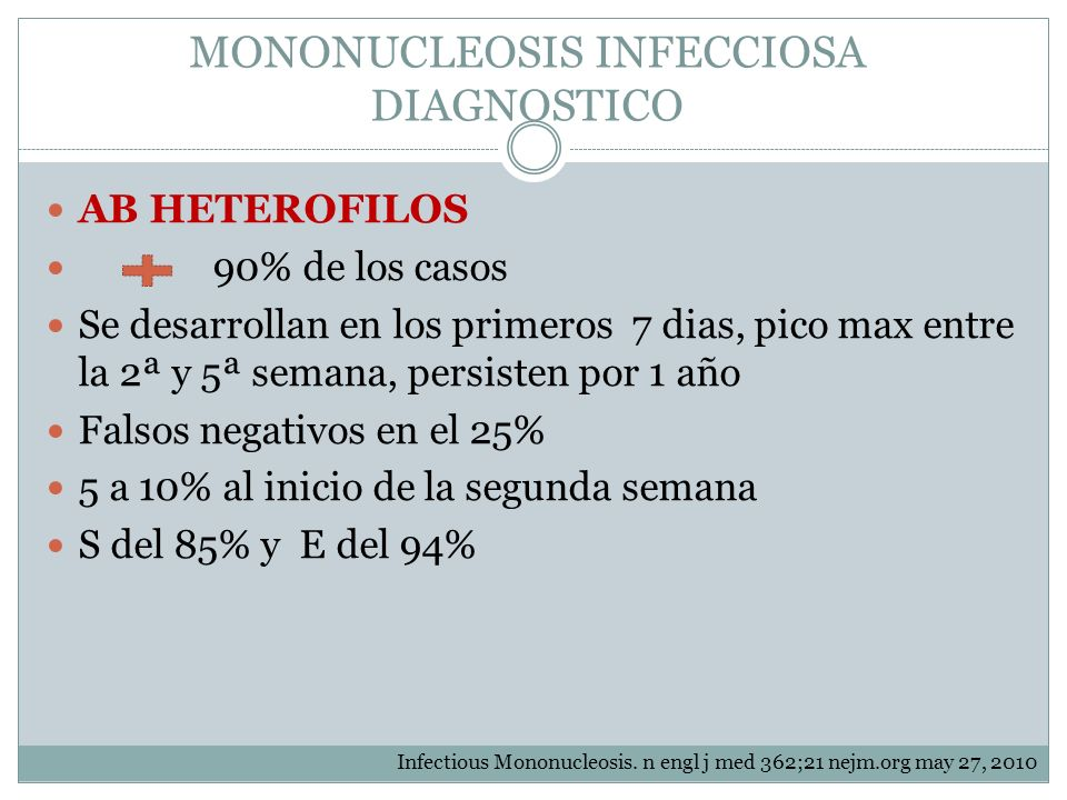 MONONUCLEOSIS INFECCIOSA DIAGNOSTICO