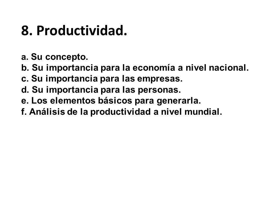 8. Productividad.