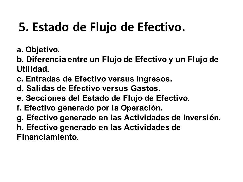 5. Estado de Flujo de Efectivo.