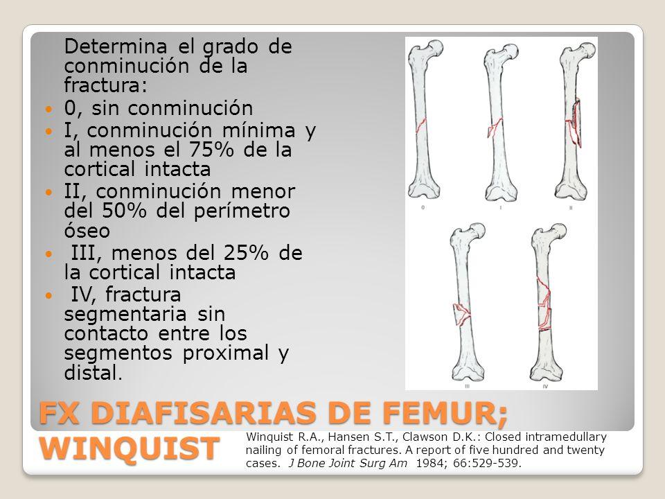 FX DIAFISARIAS DE FEMUR; WINQUIST