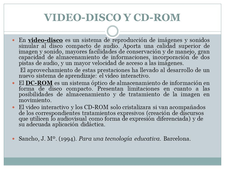 VIDEO-DISCO Y CD-ROM