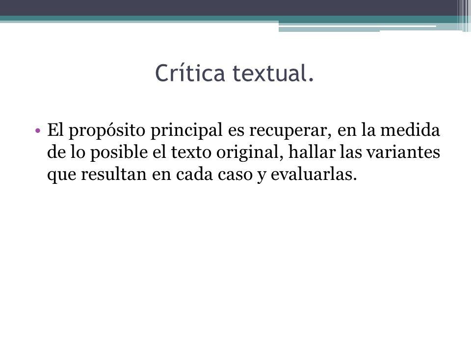 Crítica textual.