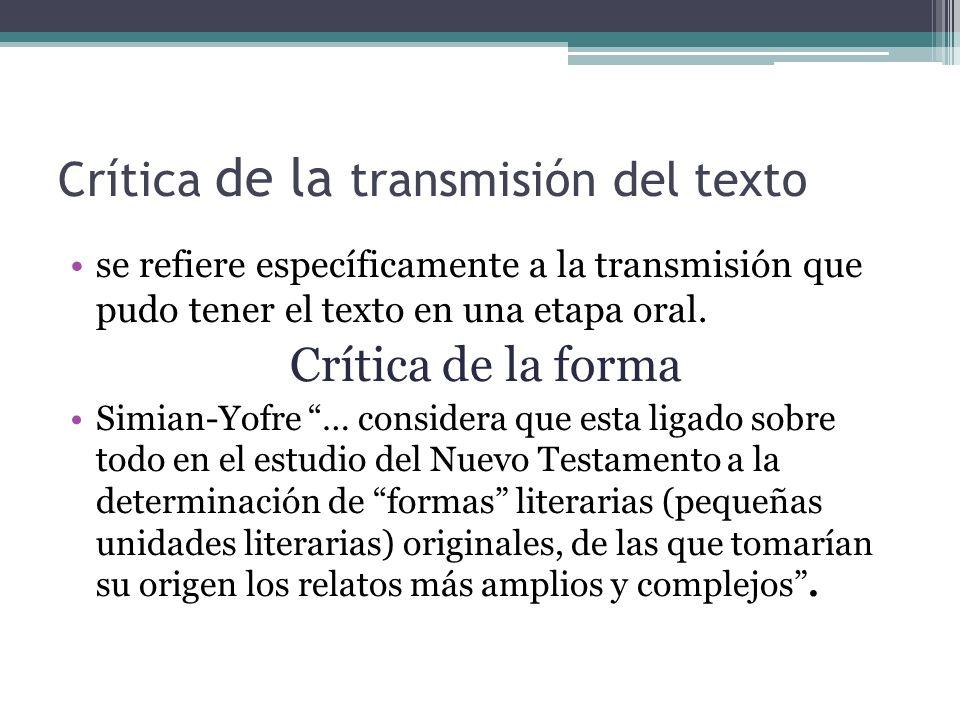 Crítica de la transmisión del texto