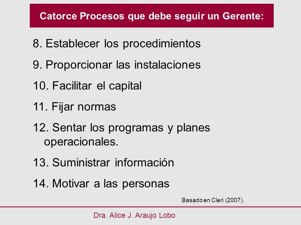 Catorce Procesos que debe seguir un Gerente: