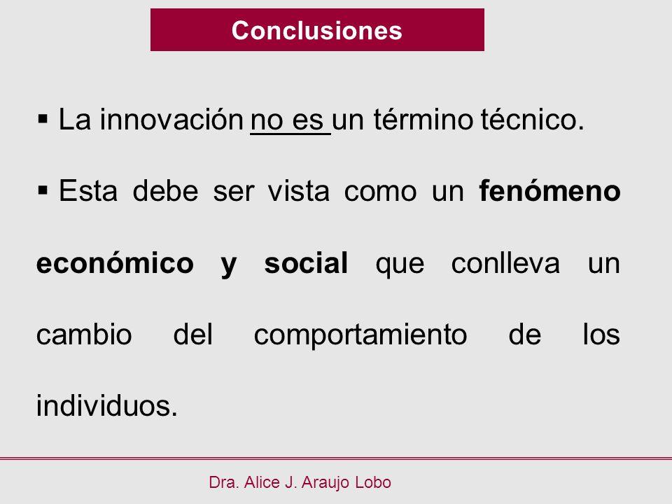 La innovación no es un término técnico.