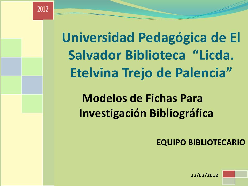 Modelos de Fichas Para Investigación Bibliográfica
