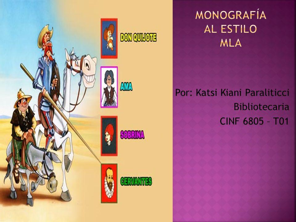 Monografía al estilo MLA