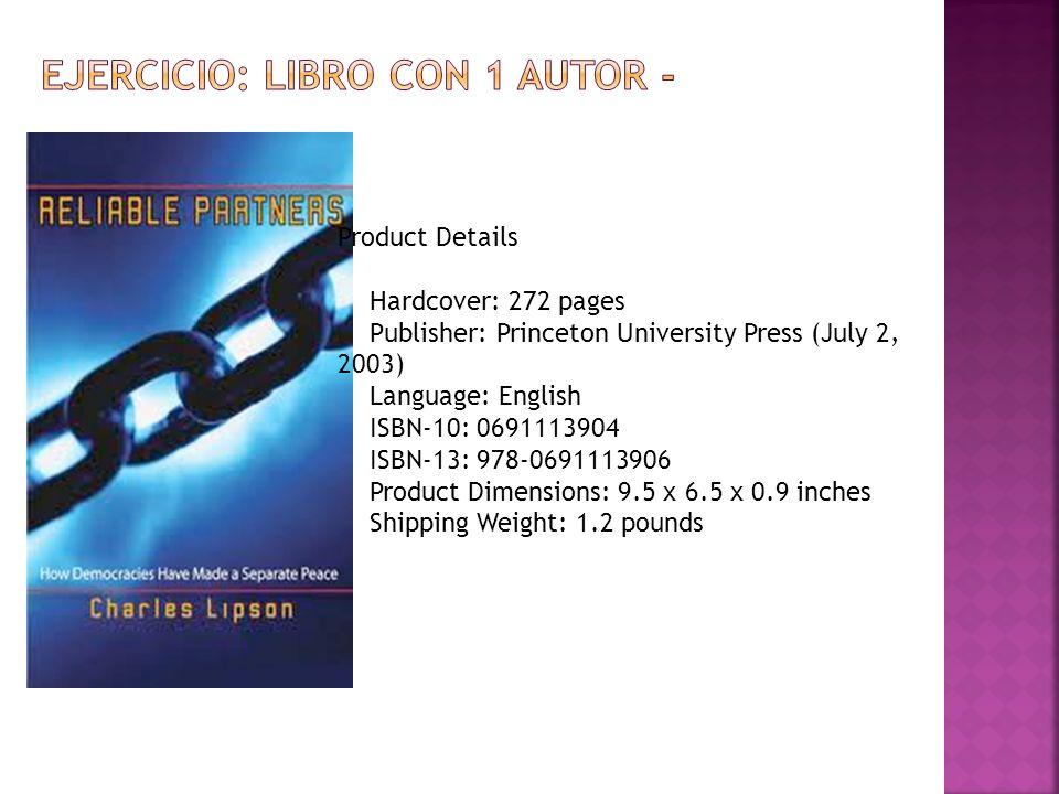 ejercicio: libro con 1 autor -