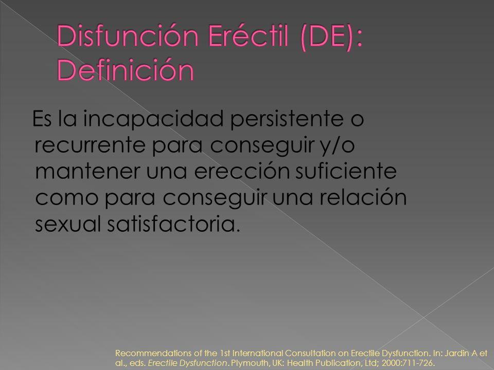 Disfunción Eréctil (DE): Definición
