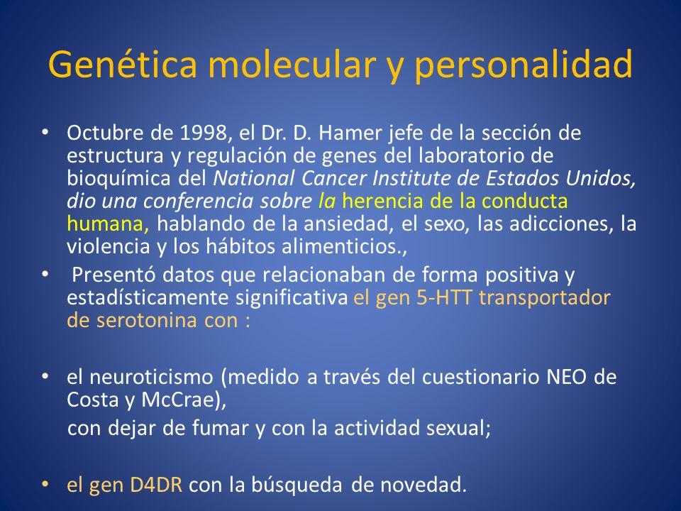 Genética molecular y personalidad