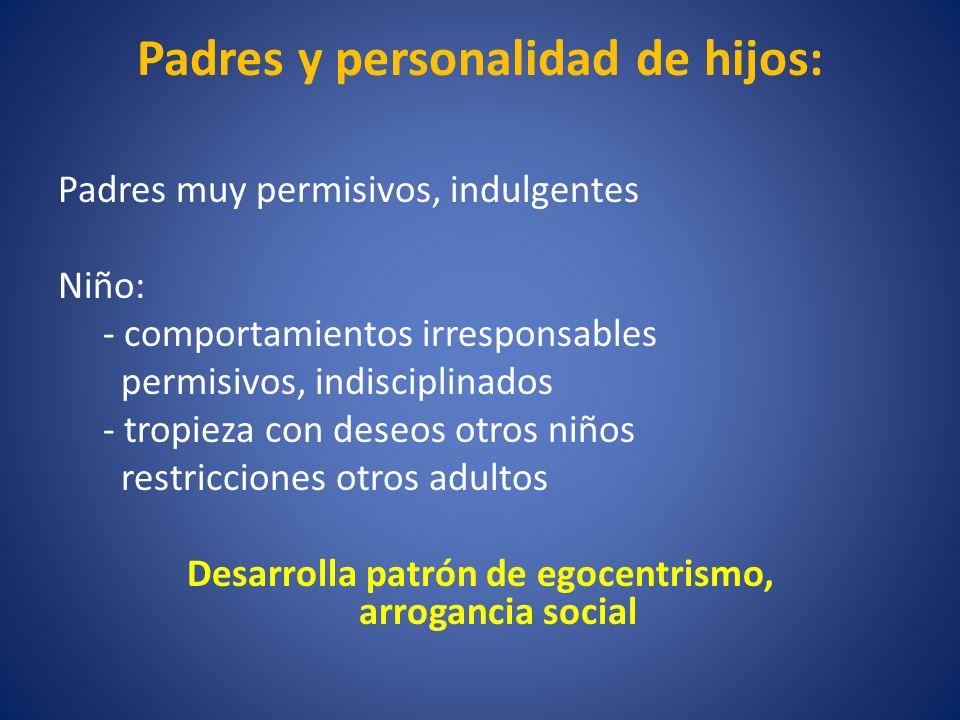 Padres y personalidad de hijos: