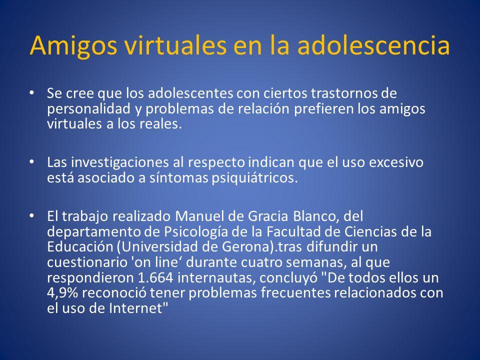 Amigos virtuales en la adolescencia