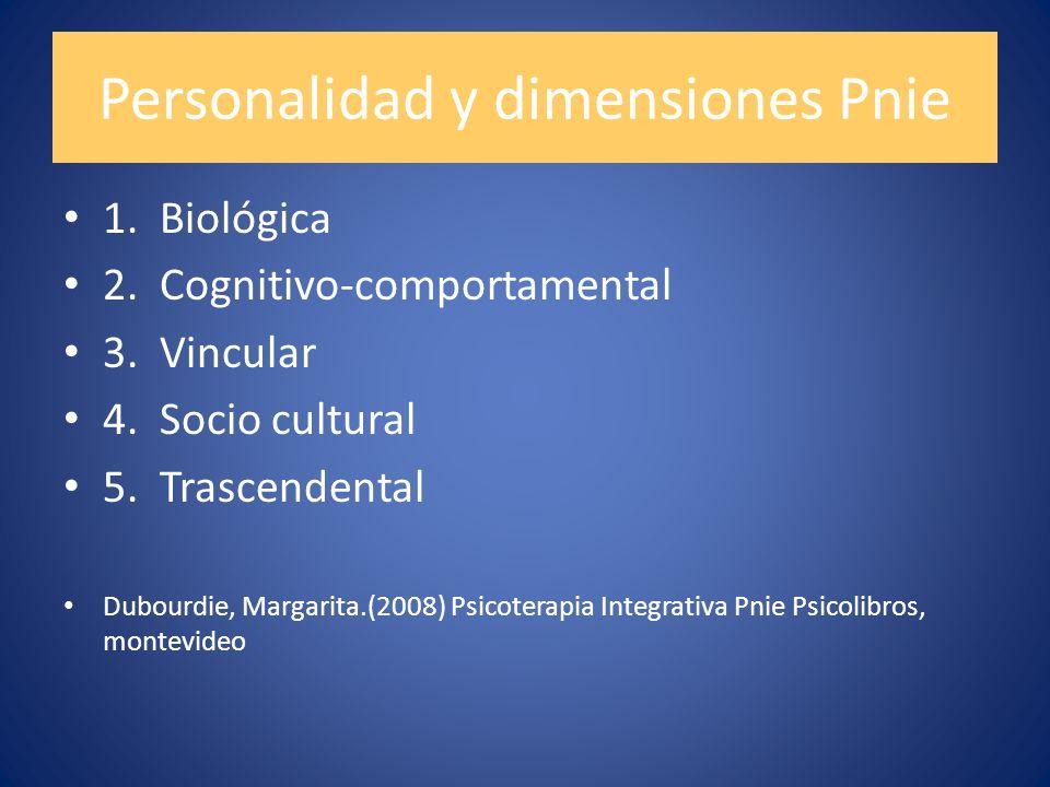 Personalidad y dimensiones Pnie