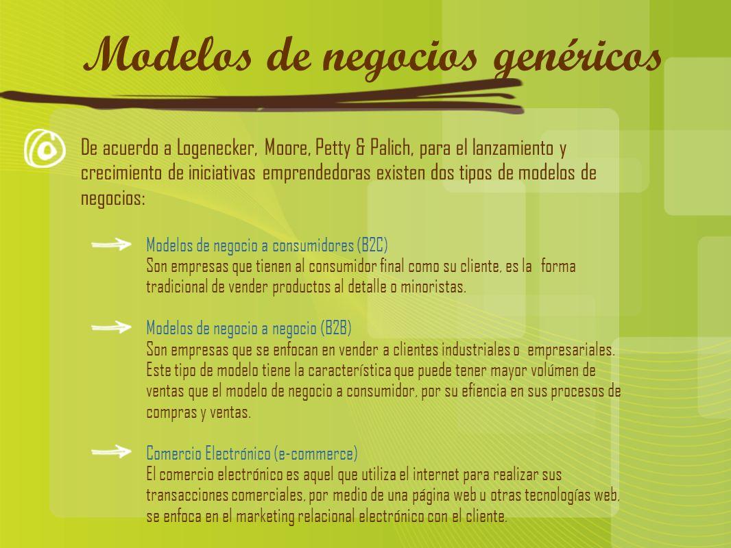 Modelos de negocios genéricos