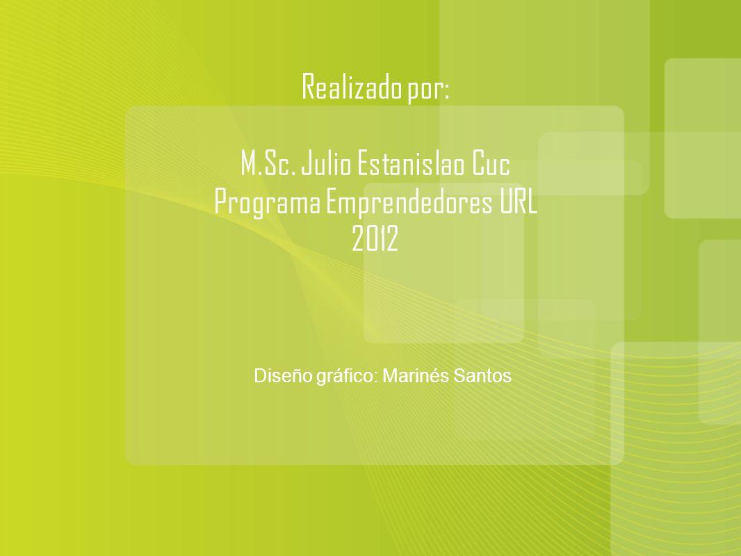 M.Sc. Julio Estanislao Cuc Programa Emprendedores URL 2012