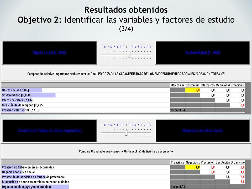 Objetivo 2: Identificar las variables y factores de estudio (3/4)