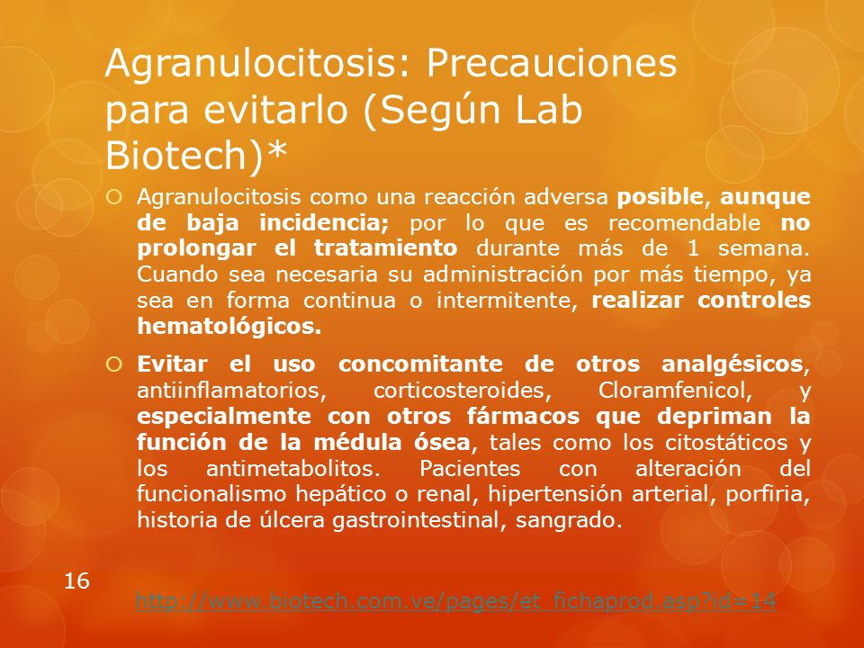 Agranulocitosis: Precauciones para evitarlo (Según Lab Biotech)*
