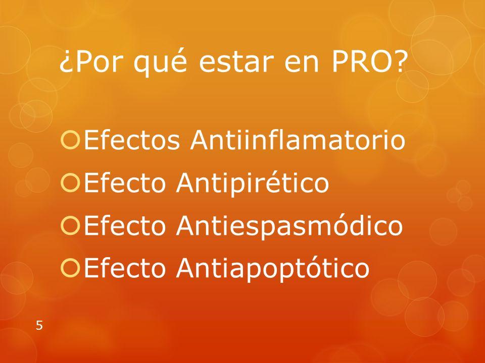 ¿Por qué estar en PRO Efectos Antiinflamatorio Efecto Antipirético