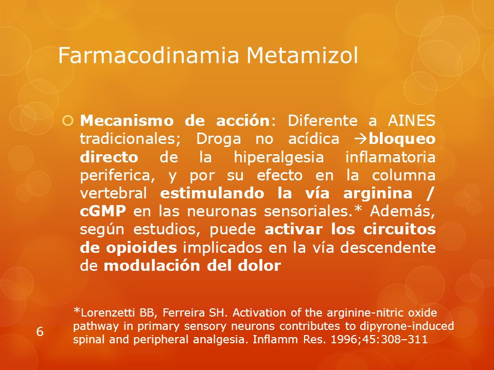 Farmacodinamia Metamizol