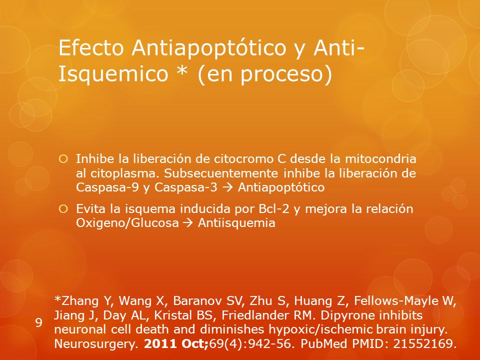 Efecto Antiapoptótico y Anti-Isquemico * (en proceso)