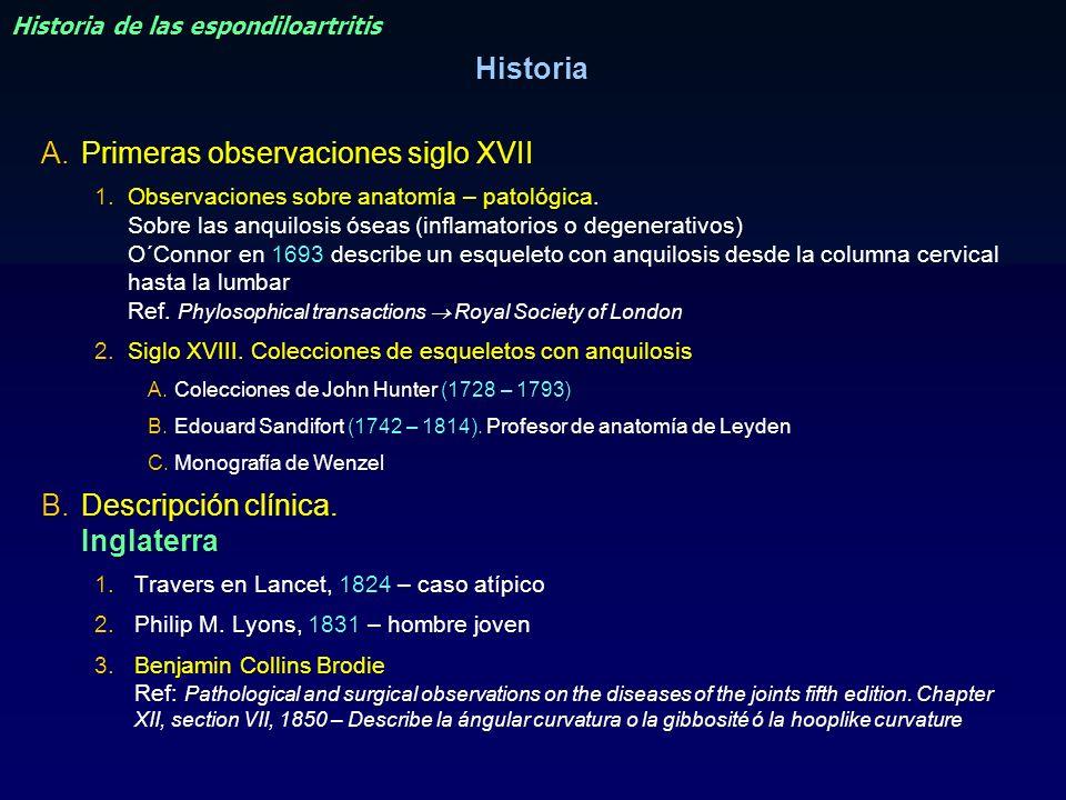 Historia de las espondiloartritis
