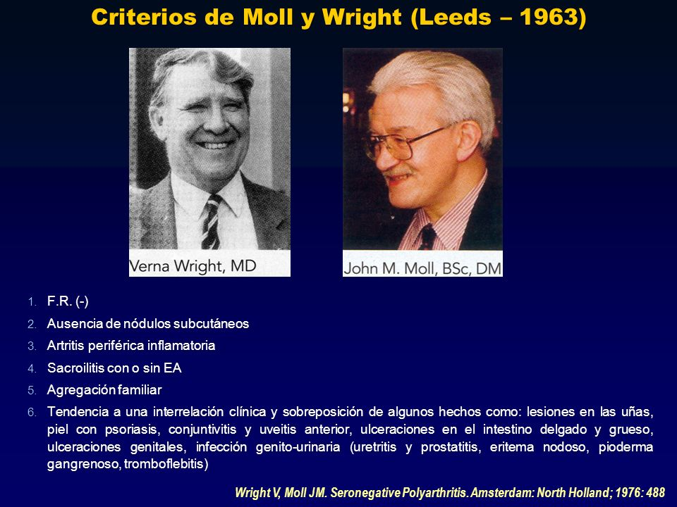 Criterios de Moll y Wright (Leeds – 1963)