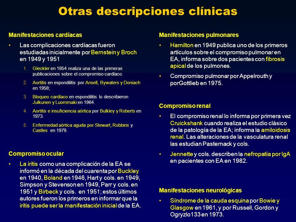 Otras descripciones clínicas