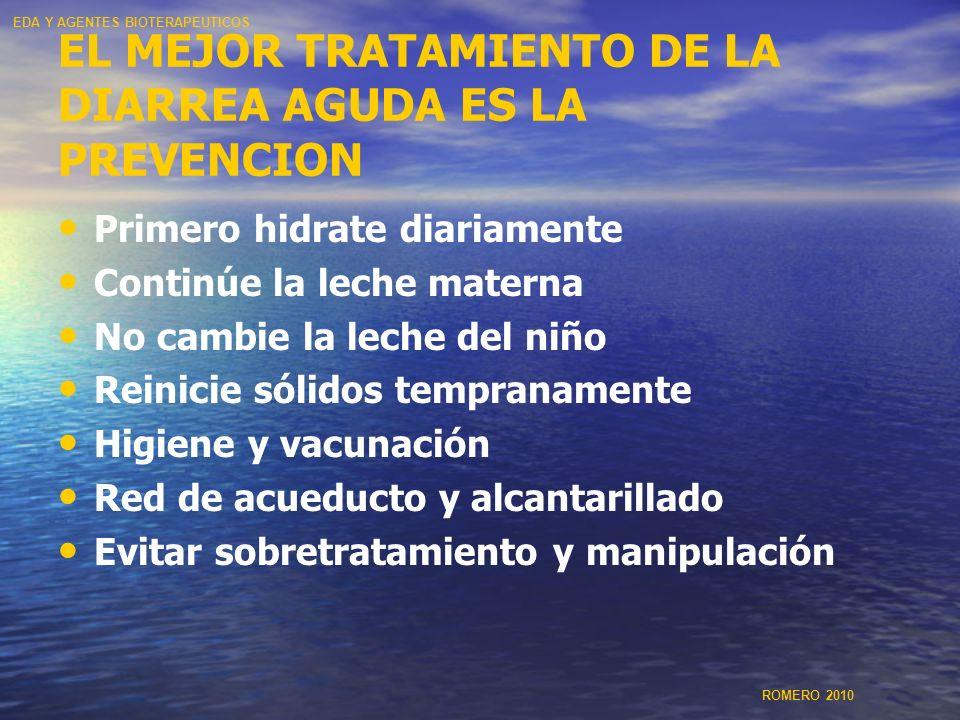 EL MEJOR TRATAMIENTO DE LA DIARREA AGUDA ES LA PREVENCION