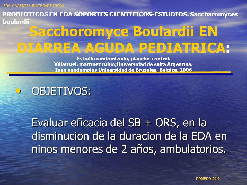 EDA Y AGENTES BIOTERAPEUTICOS